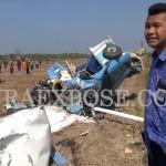 Pesawat Jatuh, Penerbang Solo Tewas Saat Latihan di Bandara Trunojoyo
