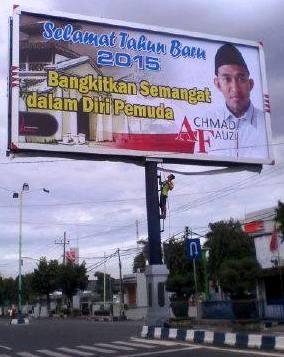 Baliho pertama Achmad Fauzi, Tokoh Pemuda Sumenep (Dok.MaduraExpose.com)