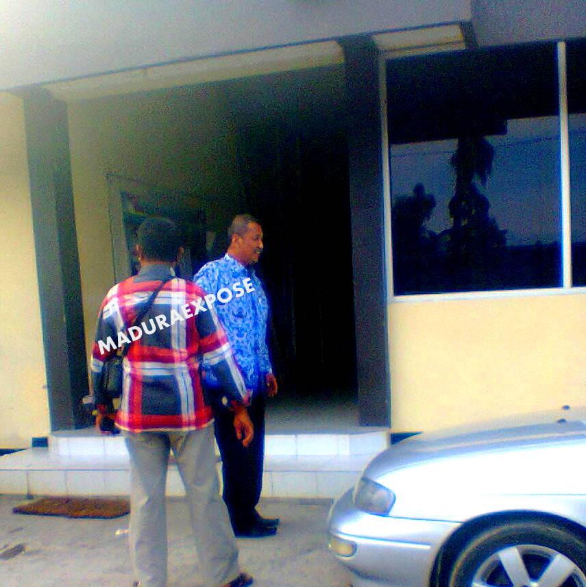 Bambang Iriyanto saat pertama kali di periksa Polres  Sumenep (Dok/MaduraExpose.com)