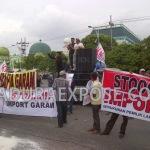 Petani garam Madura demo di kantor Gubernur Jatim (Dok/MaduraExpose.com)