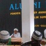 KH.Ach Basyir AS, Pengasuh Pondok Pesantren Annuqayah Latee, saat memberikan tausiyah dalam rangka silaturrahim alumni ke-7 (Dok/MaduraExpose.com)