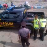 Hindari Razia Polisi, Pengendara Motor Terjatuh