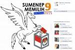 PPK Kota Sumenep Pasang Logo KPU Diinjak Kaki Kuda