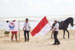 DPD Perindo Sumenep Kibar Bendera di Pantai Lombang