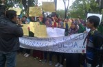 Aliansi Mahasiswa Unsuri Unjuk rasa Polda Jatim