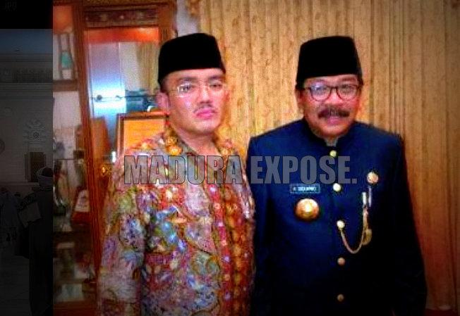 Dari Kiri: H.Kamil atau HK dalam sebuah pertemuan dengan Pakde Karwo alias Soekarwo, Ketua DPD Demokrat Jatim yang saat ini menjabat sebagai gubernur Jawa Timur/Dok.Maduraexpose.com