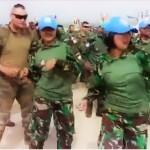 Heboh Video Asyik Goyangan Prajurit  TNI dan personel PBB