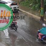 Jalan Setiabudi Kota Sumenep Direndam Banjir