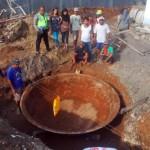Wajan Raksasa Ditemukan Warga di Bawah Tanah