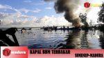 Video Detik-Detik Terbakarnya Kapal Pengangkut BBM di Sumenep