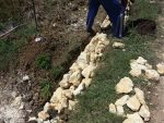 Material Proyek Plengsengan di Sampang Diduga Asal-Asalan