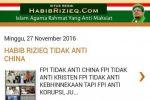 Jelang Aksi 212, Situs Habibrizieq.com Diblokir