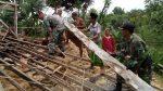 Rumah Warga Ambruk Dihantam Puting Beliung, Babinsa Guluk-Guluk Turun Tangan