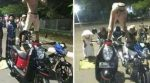 Astaghfirullah, 6 Pemuda ini Shalat Diatas Motor, Fotonya Disebar di Facebook