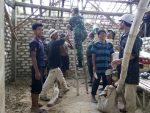 Rehab Rumah Nenek Erru, Koramil Dan Warga Guluk-Guluk Adakan Kerja Bhakti