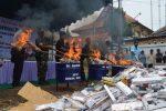 Ratusan Ribu Batang Rokok Ilegal Sumenep Dimusnahkan