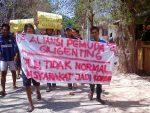 Kunjungi Giligenting, Anggota DPRD Sumenep Disambut Demo Warga
