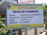 Kepala Desa Wajib Pasang Baliho Realisasi Penggunaan DD