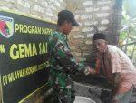 TNI Peduli Lingkungan, Bangun Jamban Warga Kurang  Mampu