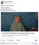 Inilah Bantahan Untuk MetroTV, Denny Siregar, Hartati Sebar Hoax 'Donasi Zoya'