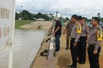 Kapolres Tinjau Langsung Debit Air Sungai Kampar