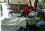 Babinsa Koramil 18/Cilacap Utara Beserta Anggota Persit Ikut Donor Darah