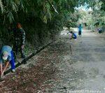 Babinsa 0827/10 Ambunten, Pelopori Warga Binaan Kegiatan Minggu Bersih