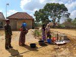 Berkah TMMD, warga Desa Karang Anyar Bisa Nikmati Air Bersih Ditengah Kerontang